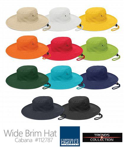 4fe00993f97 Sturdy wide brim sun hat in Team Colours  112787 -Cabana Hat With Logo  Service